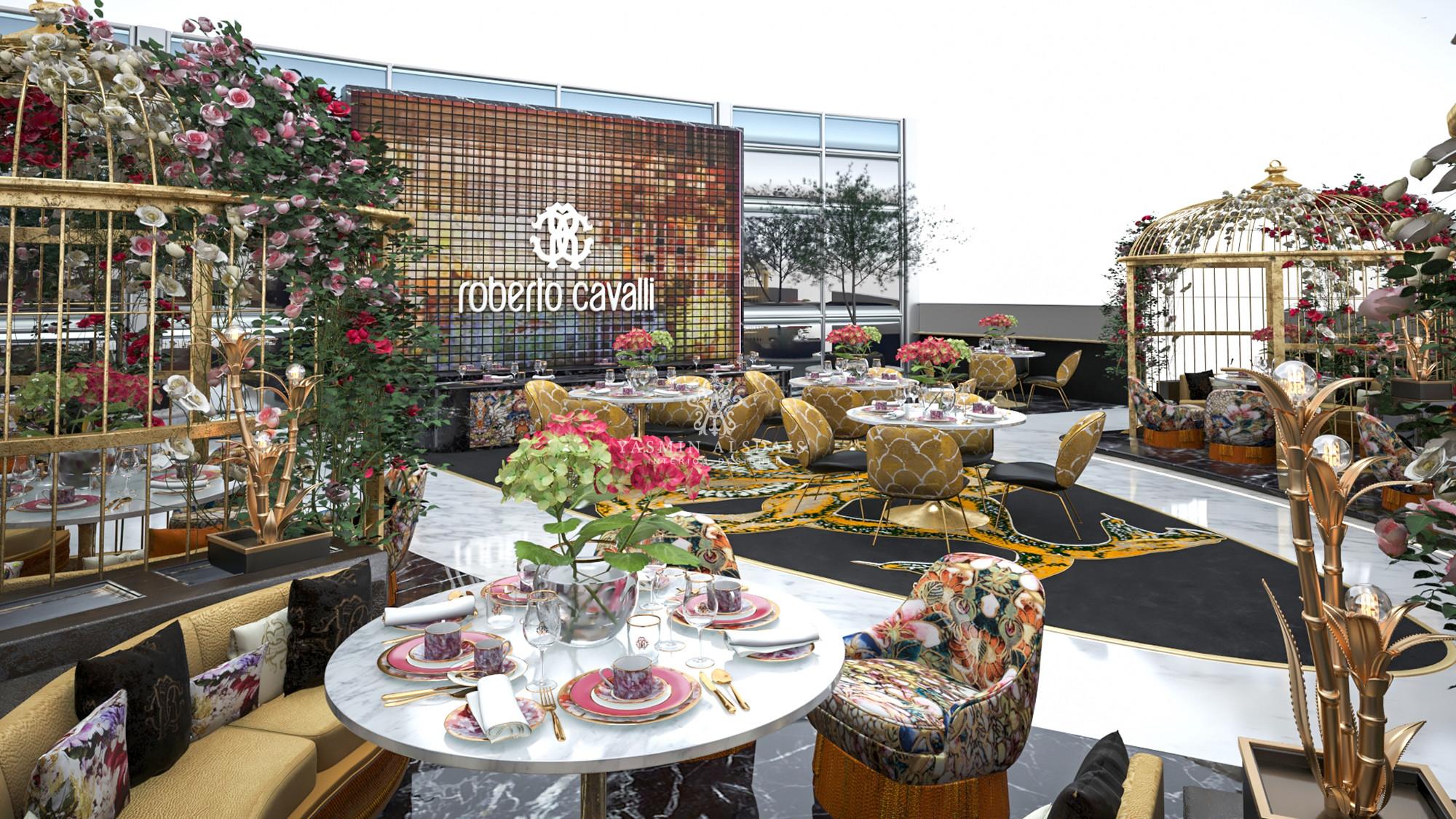 Roberto Cavalli Cafe Yasmin Interiors